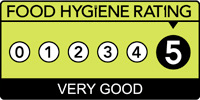 5 - Very Good Food Hygiene Rating from the Food Standards Agency
